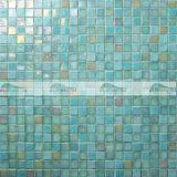tegel van het Mozaïek van het Glas van de Smelting van 15X15mm de Blauwe Hete met Iriserende Tint (BGC014)