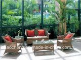 Im Freiengarten-Möbel-Rattan-Möbel