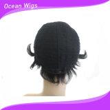 Цвет бразильского парика человеческих волос девственницы парика человеческих волос краткости волос девственницы естественный отсутствие путать отсутствие линяя волос Quercy