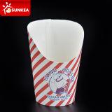 Zoll gedruckte heiße Chip-Cup/faltender französischer Feuer-Papierkasten