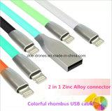 Câble de boîte de vitesses de caractéristiques du chargeur USB de bonne qualité, 5pin câble usb magnétique pour l'appareil-photo de téléphone mobile, 2 dans 1 câble usb