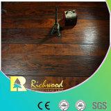 Pavimento laminato V-Grooved della ciliegia raschiato mano dell'annuncio pubblicitario 12.3mm