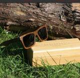 Lunettes de soleil en bois en bambou de demi de bâti
