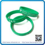 Bracelet fait sur commande bon marché de silicones de logo de décoration, bracelet estampé promotionnel de silicones