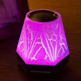 LEDs coloridos Nightlight Alto-falante Bluetooth sem fio com despertador