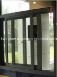 Porta de alumínio forte com a janela de deslizamento de alumínio elevada de Quanlity
