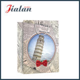 La torre inclinada de la bolsa de papel impresa Pisa del regalo que hace compras