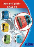 Telefone de auto seletor Emergency Koontech do telefone da operação bancária Knzd-04