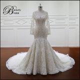 Превосходное качество a - линия платья длинних втулок Bridal