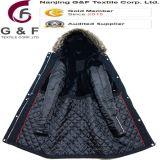 Куртки черноты полиэфира ворота шерсти повелительниц длинние