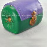 陶磁器創造的な手塗りの緑のハンドバッグの貯金箱
