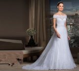 fuori da Shoulder Bridal Wedding Gown Lace Tulle Wedding Dress Y21608