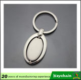 Corrente chave em branco da forma oval com logotipo