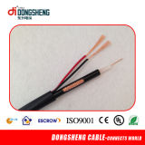 Rg59 Siamese Coaxial Cable+ 2c Power Cable voor kabeltelevisie