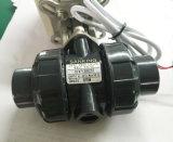 """Dn20 3/4 """" 쌍방향 12V 24V 플라스틱 전기 자동화된 PVC 공 벨브"""
