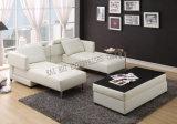 Белая кровать софы PVC Semi-PU Transformable угловойая