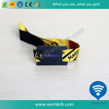 Tecido tecido RFID Wristband NFC Bracelet for Events Festival