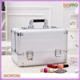 Color d'argento Girls Cosmetic Travel Caso con Compartments (SACMC061)