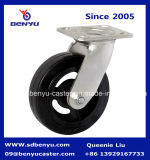 Mold resistente su Rubber Castor Black Wheel Total Brake