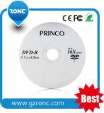 OEM in bianco all'ingrosso vuoto DVD-R del grado a+ 16X con il campione libero