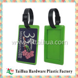 Бирка багажа PVC бирки багажа названной карточки названной бирки шаржа PVC резиновый мягкая