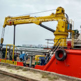 grúa marina del auge telescópico hidráulico portuario 5ton con el certificado de la BV del ABS