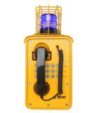 Téléphone Emergency industriel imperméable à l'eau raboteux du téléphone Knsp-09 sans porte