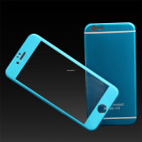 Tela Titanium Protetcor do vidro Tempered da cor da liga para o iPhone