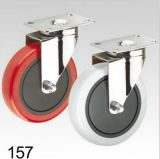 Graue Belüftung-Rad-Schwenker-Platten-Oberseite-Fußrolle