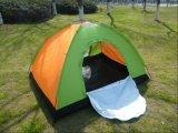 単層の携帯用手動キャンプテントが付いているPEの防水ファブリック