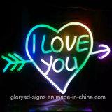 Neon molle decorativo al neon del segno LED di figura LED del cuore