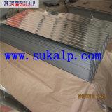 Corrugated гальванизированные настилая крышу листы