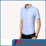Latest Fitted Casual Cotton Shirt de los hombres con Uno Pocket (JS9037m)