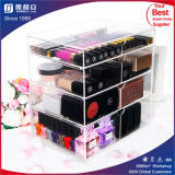 Dulex Plexiglass Makeup Organizer Acrylique Cosmetic 4 Drawer