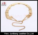 Cinghia del metallo Gold-Tone con la cinghia della catena a maglia del Tortoise del Faux