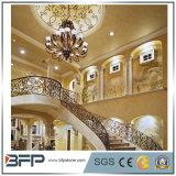 Beige naturale lussuoso/oro Colums mezzo di marmo e colonne per la decorazione interna