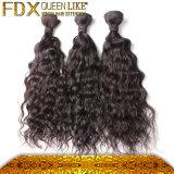 100%水波のインドの人間の毛髪を終了する完全な毛