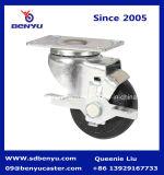 Medium Duty schwarz PU-Caster Rad mit Bremse