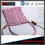 Calefator cerâmico cor-de-rosa flexível da almofada da alta qualidade industrial