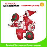 Sac à provisions pliable de transport facile de Noël du polyester 210d