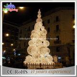 beleuchtet im Freien purpurroter Kugel-Baum des Weihnachten3d mit LED wasserdichtes