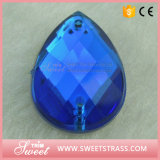 Recatangle Aquamarine-Farbe nähen auf Kristallsteinacryl