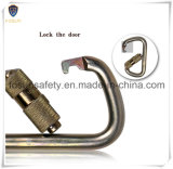 Zinco Alloy Threaded Carabiner para Harness ou Lanyard