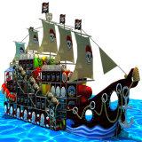새로운 자연적인 해적선 시리즈 실내 아이들 운동장 장비