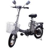 Mini E-Vélo se pliant de ville avec le panier et le phare de DEL (FB-006)