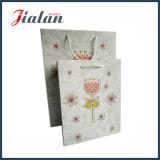 Nueva bolso de compras de papel impreso del diseño 2016 insignia de encargo barata