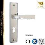Poignée de verrouillage de porte en alliage de zinc sur la plaque (7012-Z6080)
