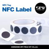 ISO 14443A de Ntag 215 del ANIMAL DOMÉSTICO de la etiqueta 13.56mhz de la etiqueta engomada de NFC