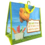 Sac stratifié non tissé pour des achats, sac d'emballage respectueux de l'environnement, cadeau de promotion