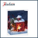 Glattes anpassen lamelliert mit Weihnachtskerze-Kunstdruckpapier-Geschenk-Beutel